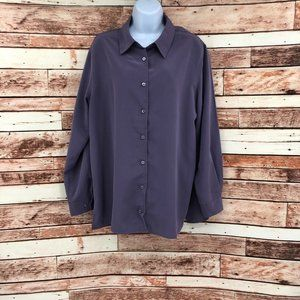Orvis Collared Long Sleeve Button Down Blouse Sz M
